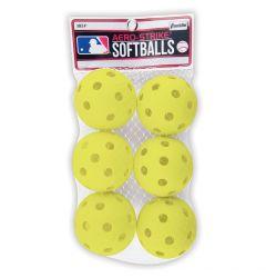 Franklin MLB 90mm Plastic Softballs - 6 pack