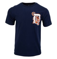 Detroit Tigers Majestic MLB Youth Replica Crewneck T-Shirt