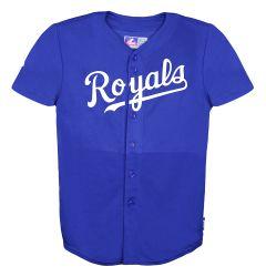 Kansas City Royals Majestic Cool Base Pro Style Youth Jersey