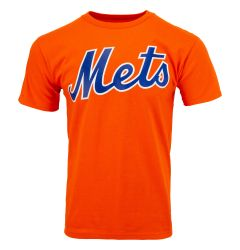 New York Mets Majestic MLB Youth Replica Crewneck T-Shirt