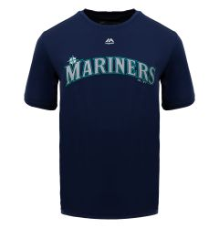 Seattle Mariners Majestic Cool Base Evolution Adult T-Shirt