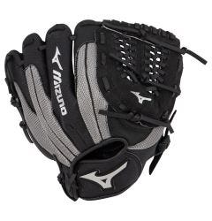 "Mizuno Prospect Series PowerClose 11"" Youth Baseball Glove - Black/Smoke - 2019 Model"