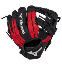 "Mizuno Prospect Series PowerClose 10"" Youth Baseball Glove - Black/Red - 2019 Model"