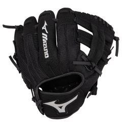 "Mizuno Prospect Series PowerClose 9"" Youth Baseball Glove - Black - 2019 Model"