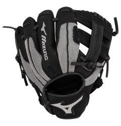 "Mizuno Prospect Series PowerClose 9"" Youth Baseball Glove - Black/Smoke - 2019 Model"