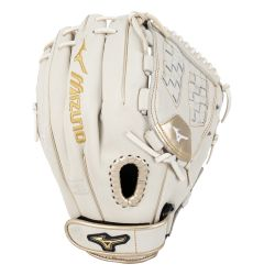 "Mizuno MVP Prime SE 12"" Fastpitch Softball Glove - White/Gold"