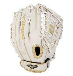 "Mizuno MVP Prime SE 13"" Fastpitch Softball Glove - White/Gold"