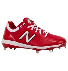 New Balance 4040v5 Men's Low Metal Baseball Cleats - Red