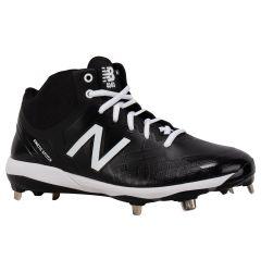 New Balance 4040v5 Men's Mid Metal Baseball Cleats - Black