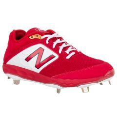 New Balance Fresh Foam 3000v4 Men's Low Metal Baseball Cleats - Red