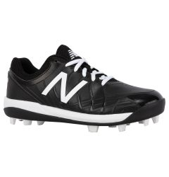 New Balance 4040v5 Boy's Low Molded Rubber Baseball Cleats - Black