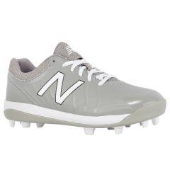 New Balance 4040v5 Boy's Low Molded Rubber Baseball Cleats - Grey