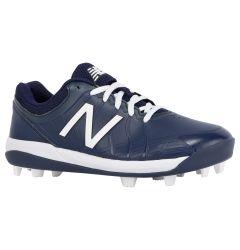 New Balance 4040v5 Boy's Low Molded Rubber Baseball Cleats - Navy