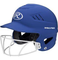 Rawlings Coolflo Matte Senior Batting Helmet w/Faceguard