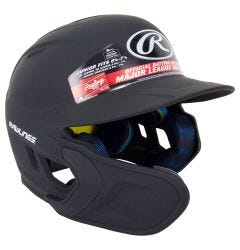 Rawlings Mach Matte Junior Batting Helmet w/ EXT Flap