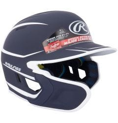 Rawlings Mach Matte Senior Two-Tone Batting Helmet w/ EXT Flap