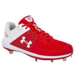 Under Armour Yard Low ST Men's Metal Baseball Cleats - Red/White