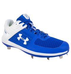 Under Armour Yard Low ST Men's Metal Baseball Cleats - Royal/White