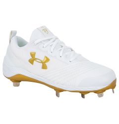 Under Armour Glyde Women's Metal Fastpitch Softball Cleats - White/Gold