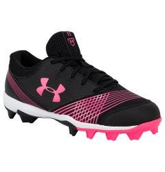 Under Armour Glyde Women's Rubber Molded Fastpitch Softball Cleats - Black/Cerise
