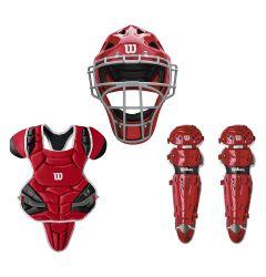 Wilson C1K NOCSAE Certified Intermediate Baseball Catcher's Kit