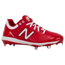 new balance red cleats