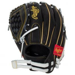 Softball Glove droitier-Noir Rawlings PRO120SB-3BW Heart of the hide 12 in environ 30.48 cm