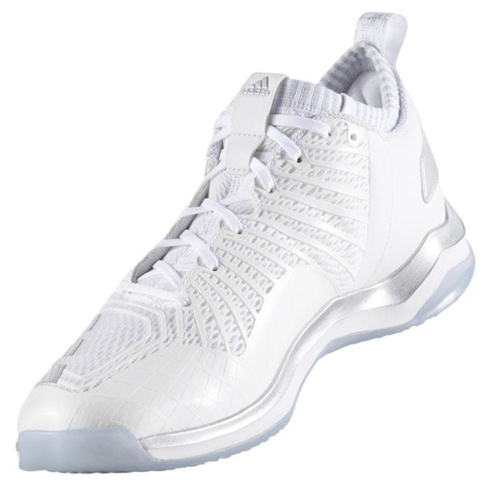 Adidas Icon 3 Men's Mid Trainer Shoes - White/Silver/Light Grey