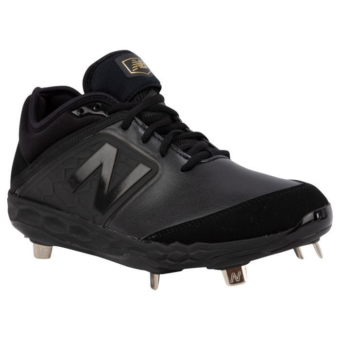New Balance 3000V4 Men's Low Metal Baseball Cleats - Black
