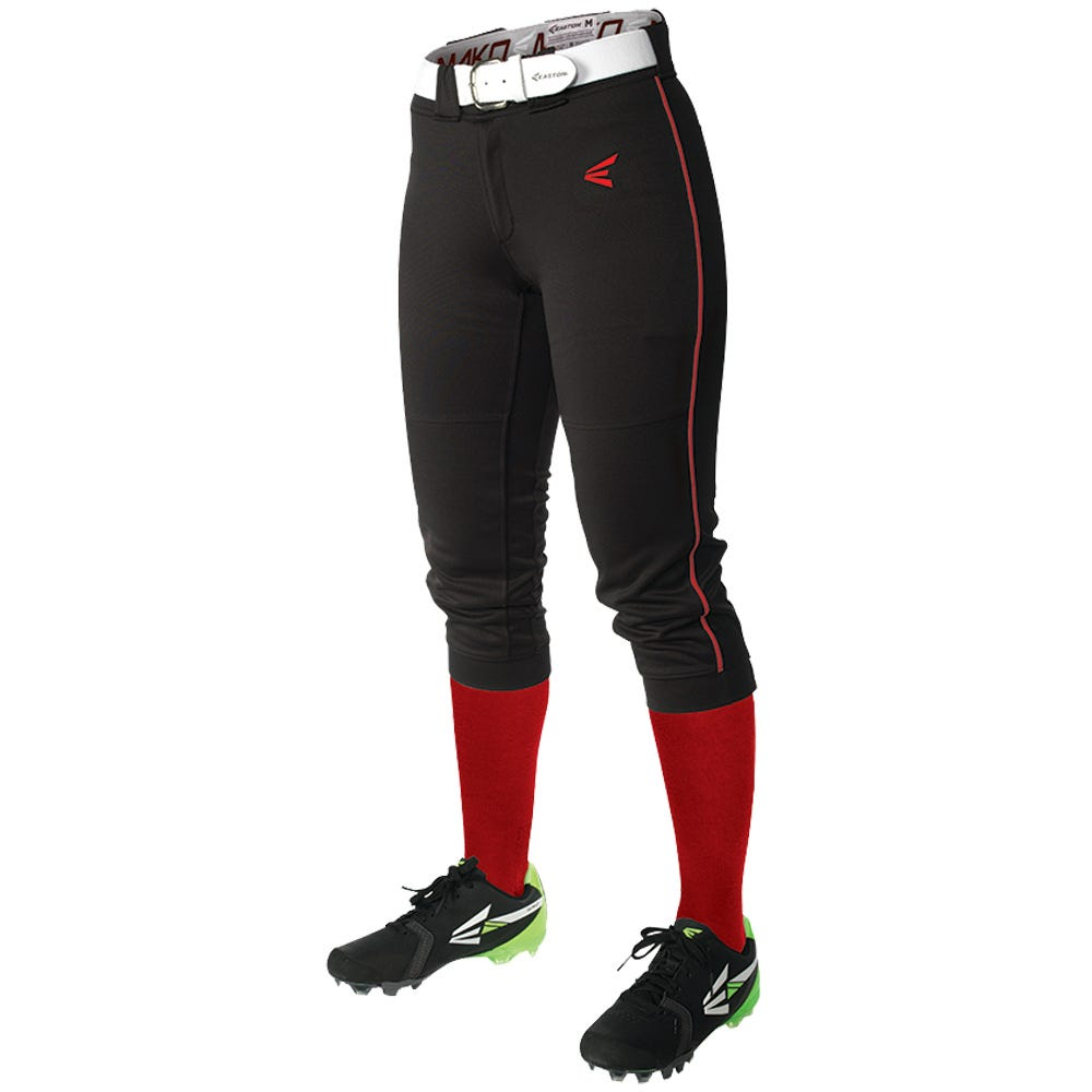Easton White/Black Softball Mako Piped Pant - Womens Size Small