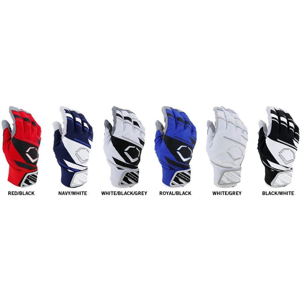Black batting gloves - Evoshield Adult Pro Batting Gloves Speed Stripe