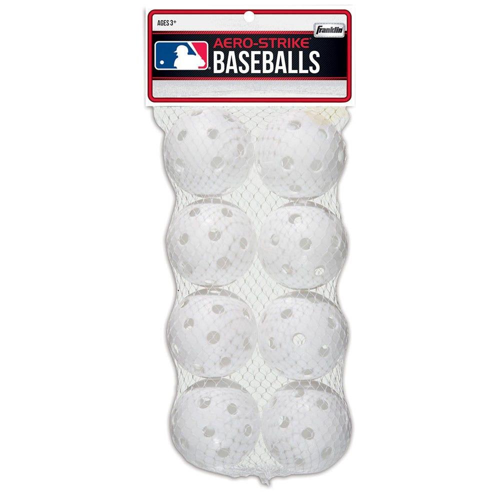 Franklin MLB 70mm Plastic Baseballs - 8 pack