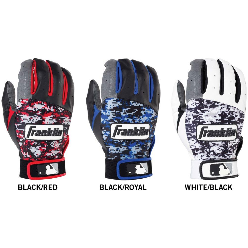 Black batting gloves - Franklin Digitek Men S Baseball Batting Gloves