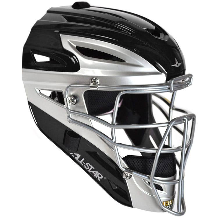 Black & Silver All Star MVP4000SL Adult Helmet - Men's - Catcher Gear
