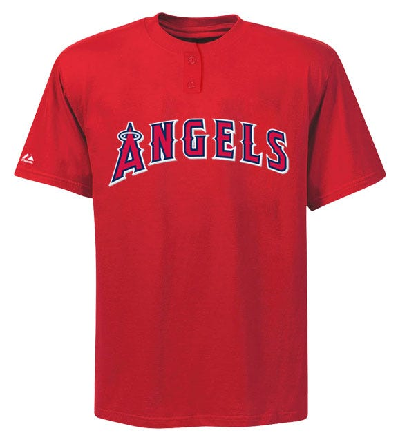 Majestic Two-Button Los Angeles Angels of Anaheim Youth Jersey