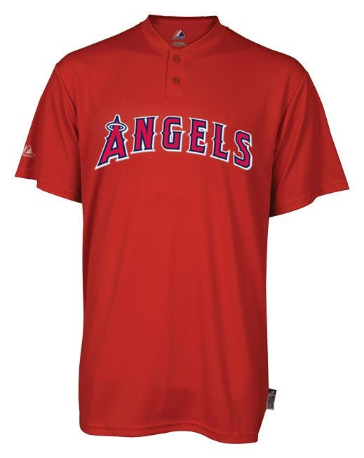 Majestic Coolbase 2-Button Los Angeles Angels of Anaheim Youth Jersey