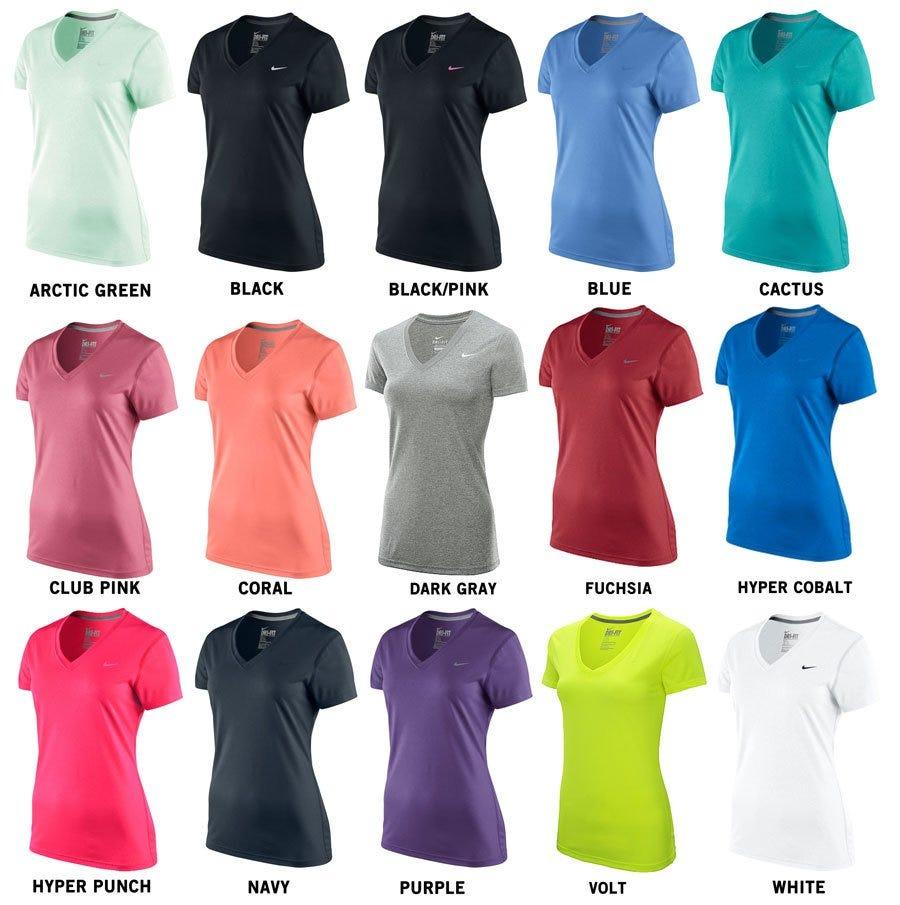 cheap for discount 0e2e2 3d9ec Nike Legend V-Neck Women s Short Sleeve Shirt