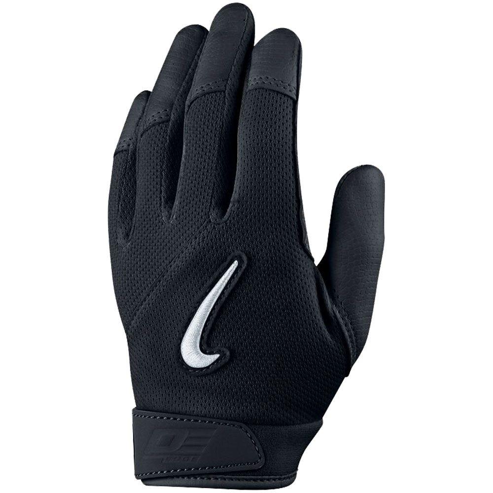 Black leather batting gloves - Black Leather Batting Gloves 21