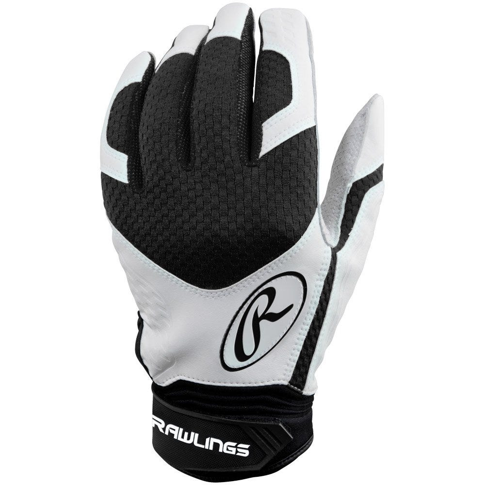 Rawlings Leather and Neoprene Excellence Batting Gloves; Lime Green