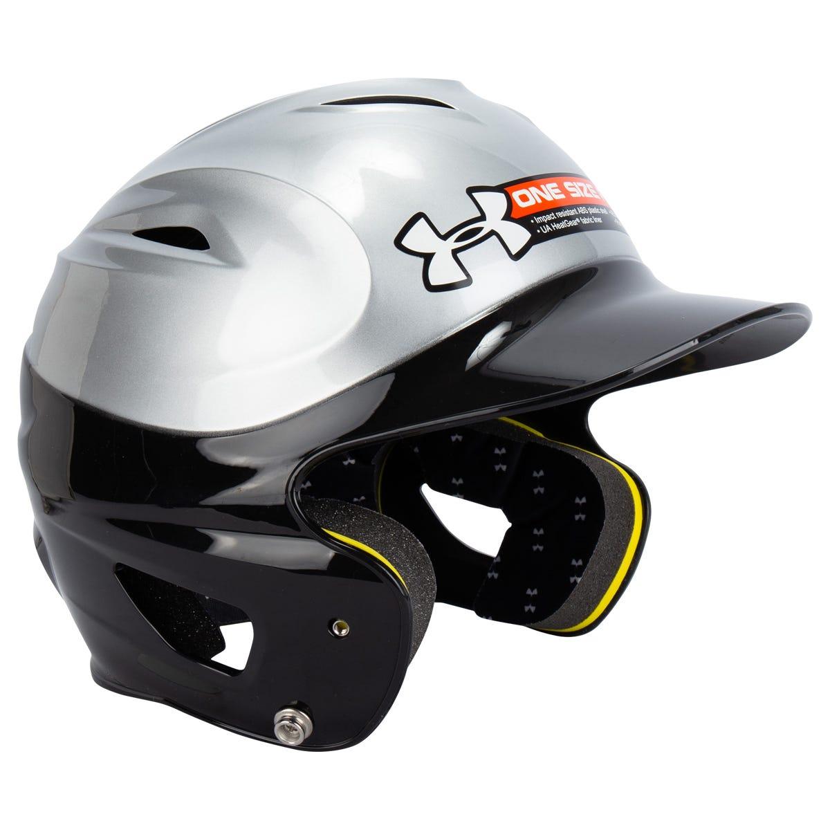 Under Armour Baseball Batting Helmets Purple/Silver Two-Tone OSFA