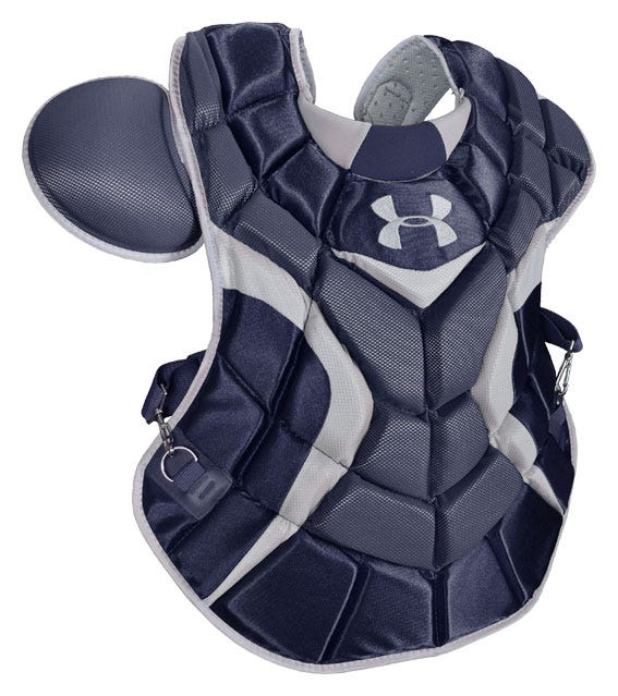 Black Under Armour Pro Adult Chest Protector - Catcher's Accessories
