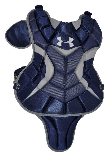 Scarlet Red Under Armour Pro Junior Chest Protector - Baseball Gear
