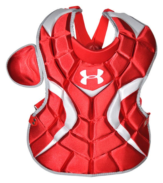 Under Armour Victory Baseball Catchers Chest Protectors; Navy - 14.5''