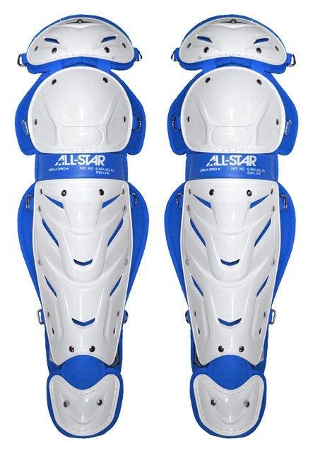 Maroon Softball Catcher's Leg Guards; Womens - All-Star Vela Pro