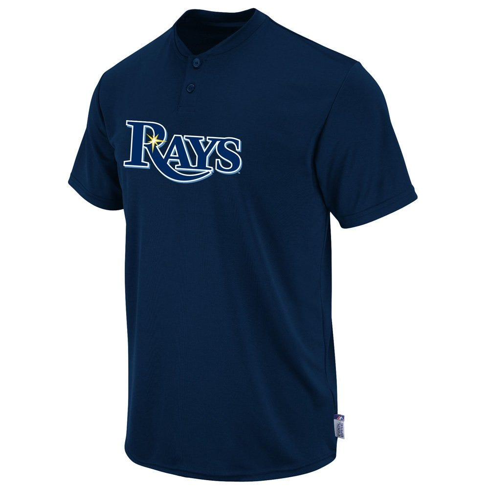 Majestic Cool Base 2-Button Adult Replica Jersey - Tampa Bay Rays