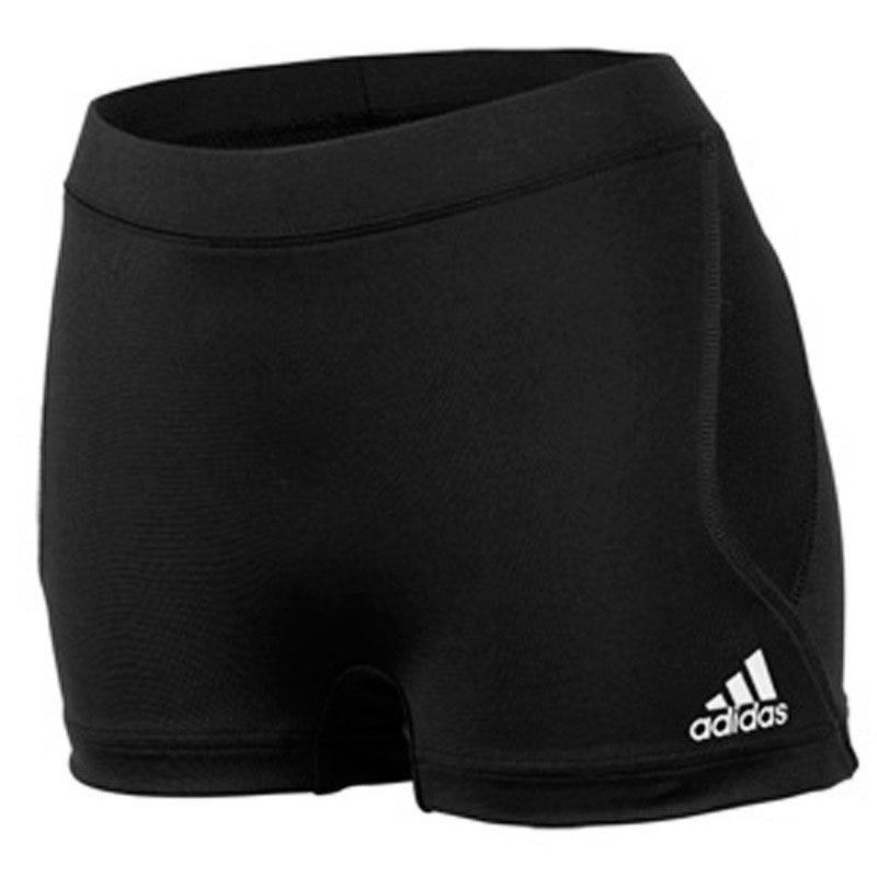 Small Climalite Softball Techfit Shorts by Adidas; Womens Black