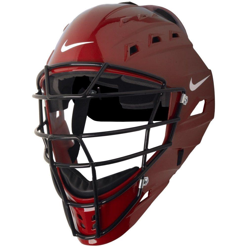 Mens Adult Nike DE3539 Baseball Catcher's Helmet; Red -