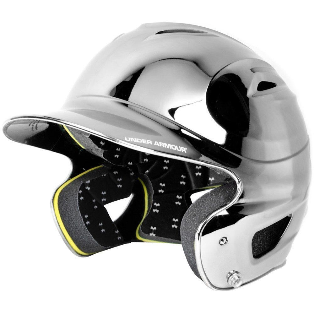 Under Armour Solid Chrome Adult Batting Helmet