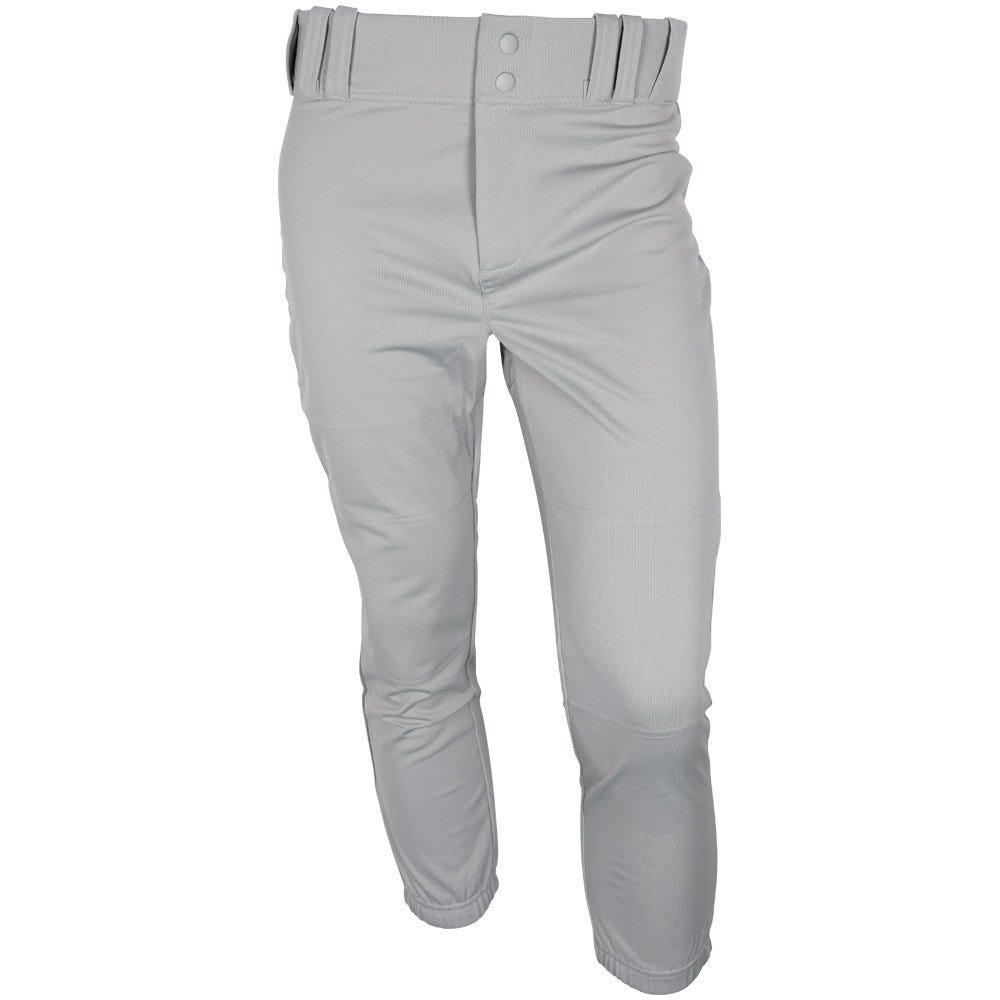 Slider Baseball Pant by Under Armour; Boys Elastic Waist - Medium Grey