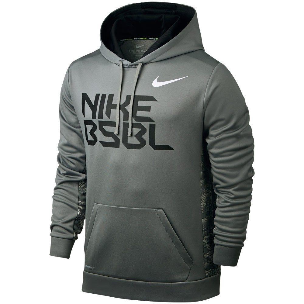 KO BSBL Hoody by Nike; Baseball - X-Large Tumbled Grey/University Red
